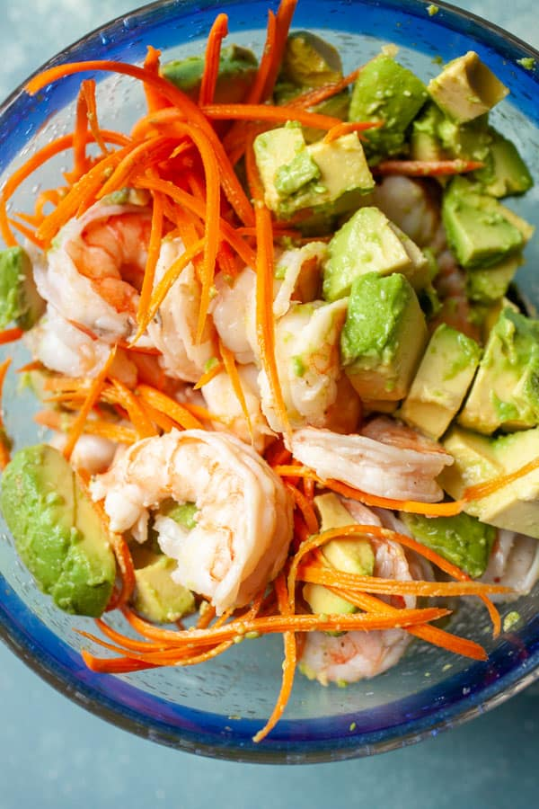 Salad - Avocado Shrimp Lettuce Wraps
