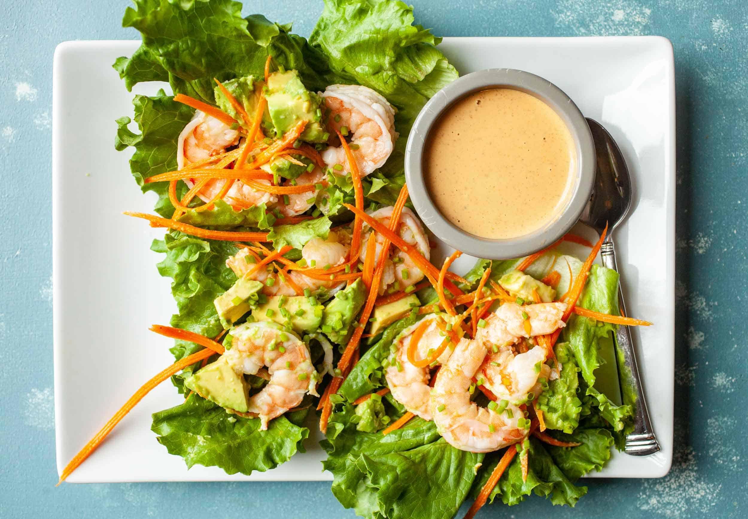Tasty Shrimp Lettuce Wraps