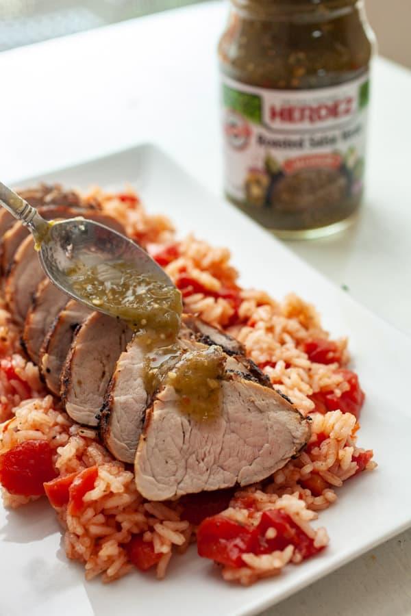 Spooning Salsa - Cumin Lime Pork Tenderloin