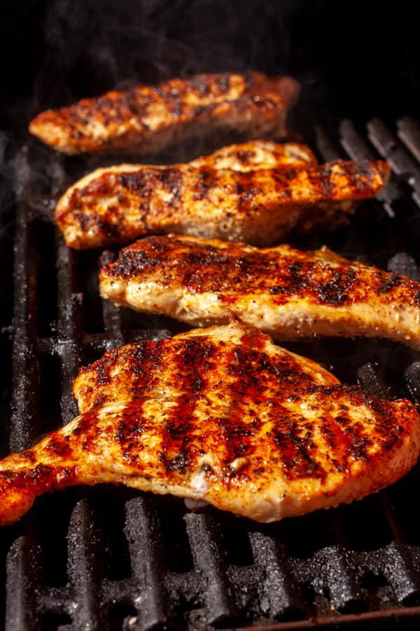 On the grill - Grilled Chicken with Cantaloupe Salsa