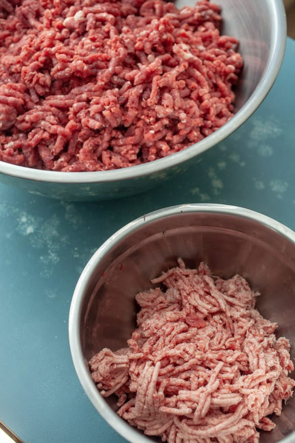 Fat and lean meat - Homemade Ground Beef for burgers