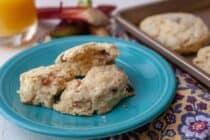 Strawberry Rhubarb Scones