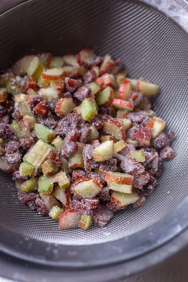 Rhubarb Cut - Strawberry Rhubarb Scones
