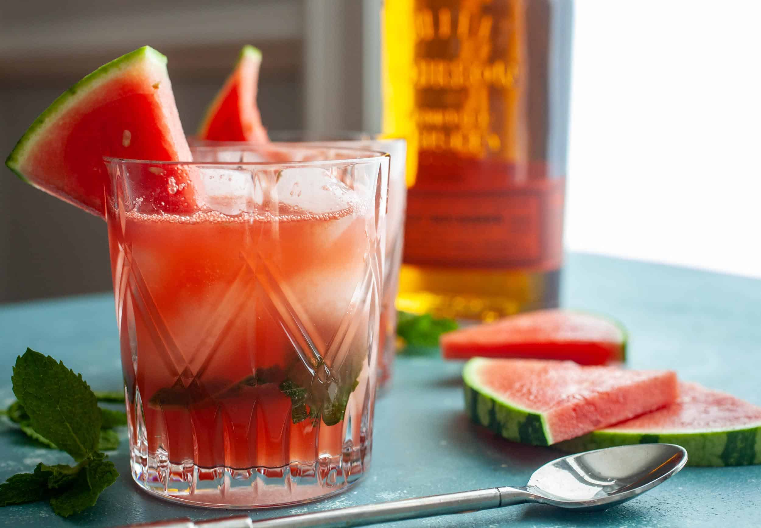Watermelon Bourbon Smash