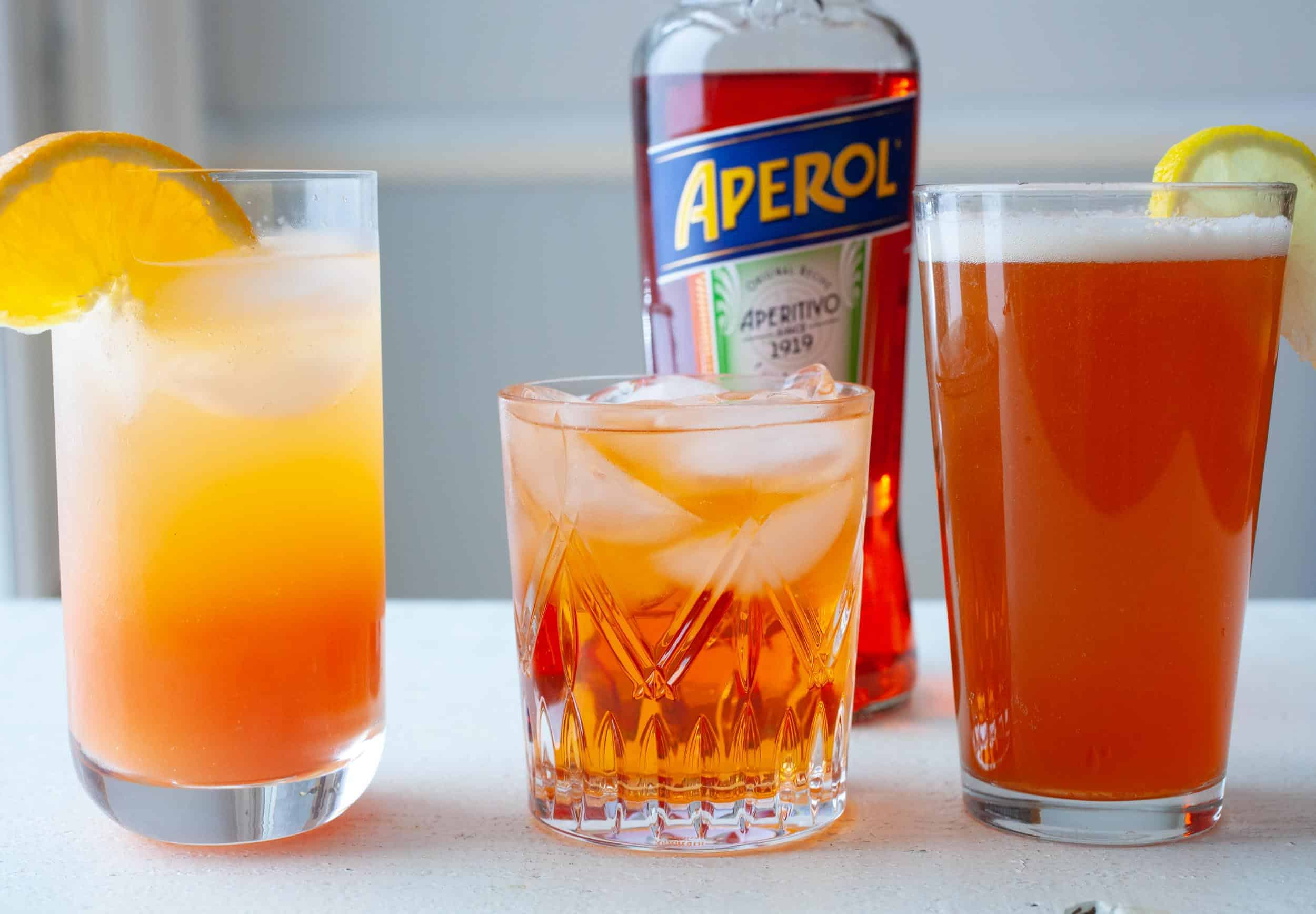 Three Aperol Spritz Variations