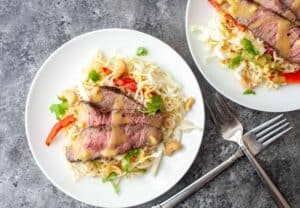 Ramen Steak Salad with Citrus Dressing