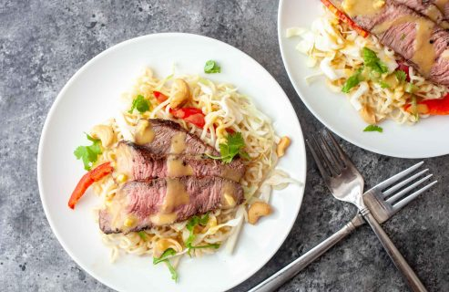 Ramen Steak Salad
