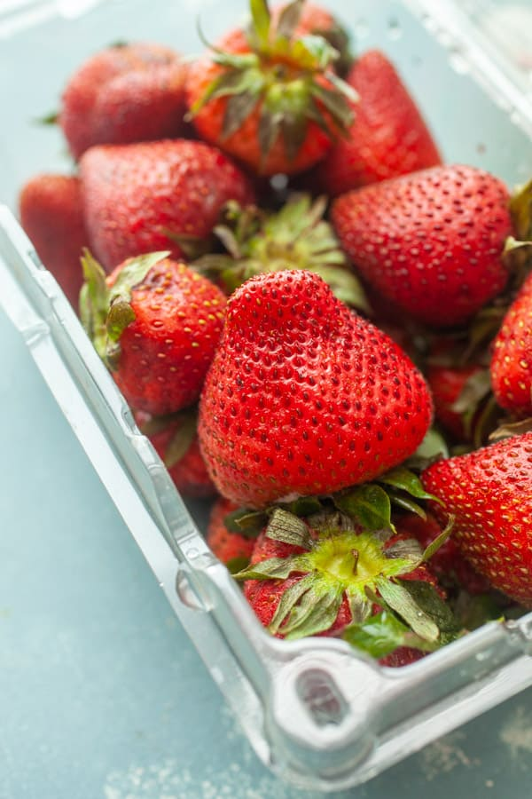 Fresh Strawberries - Strawberry Frozen Yogurt