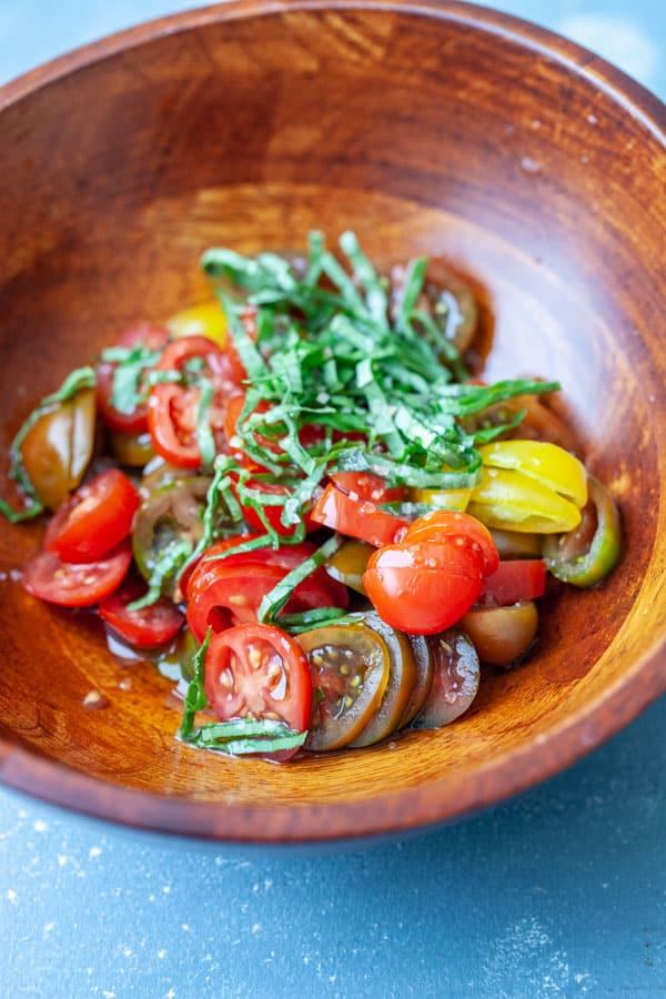 Salad - Tomato Burrata Benedict