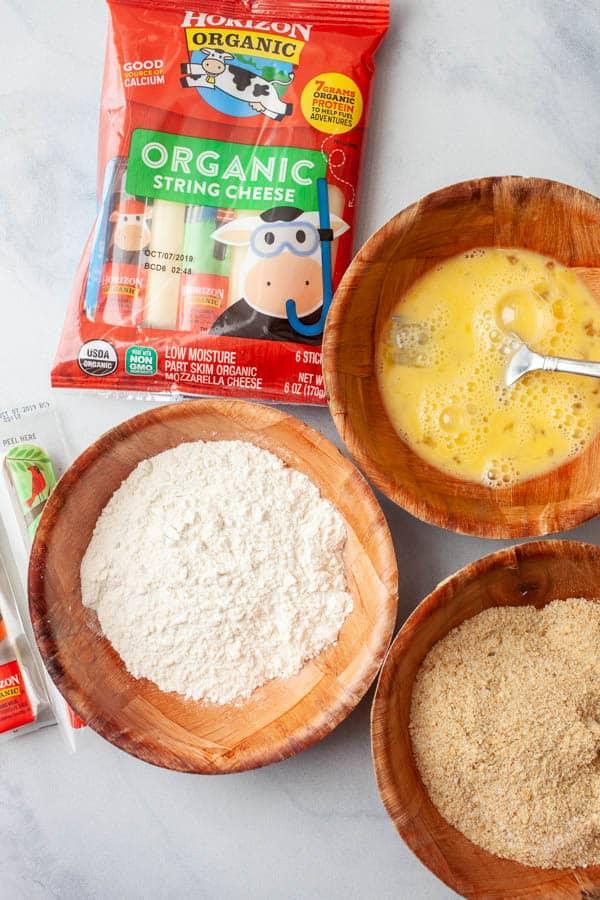 Breading - Crispy Mozzarella Bites