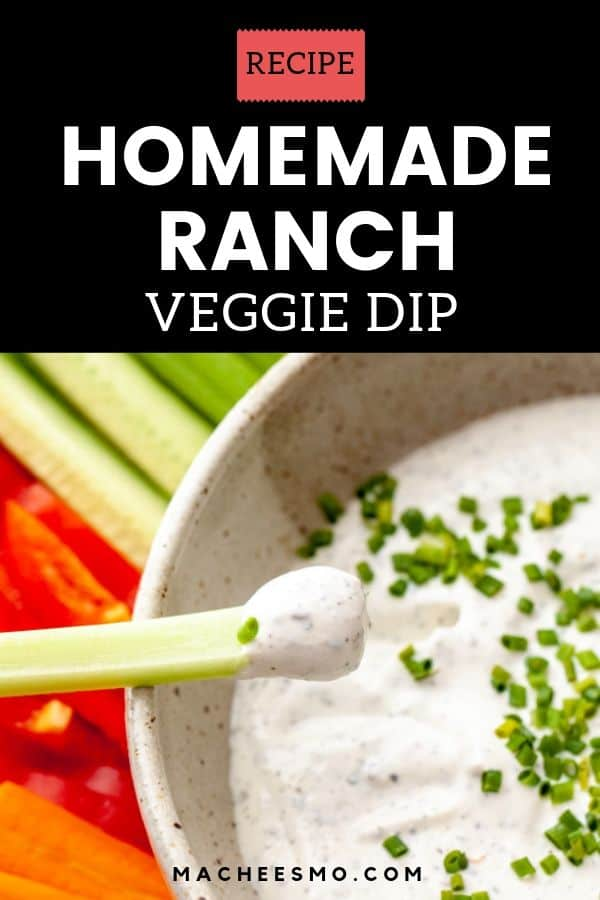 Homemade Ranch Veggie Dip