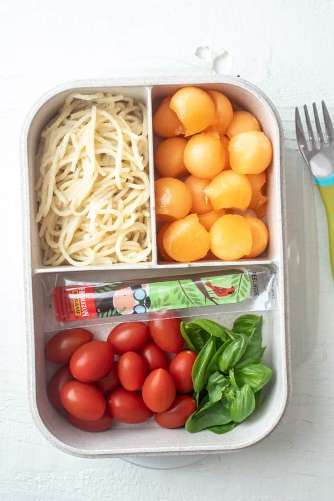 Caprese Bento Box - Three Easy Bento Box Lunches