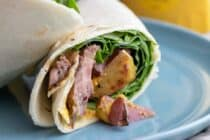 Grilled Steak and Potatoes Wraps
