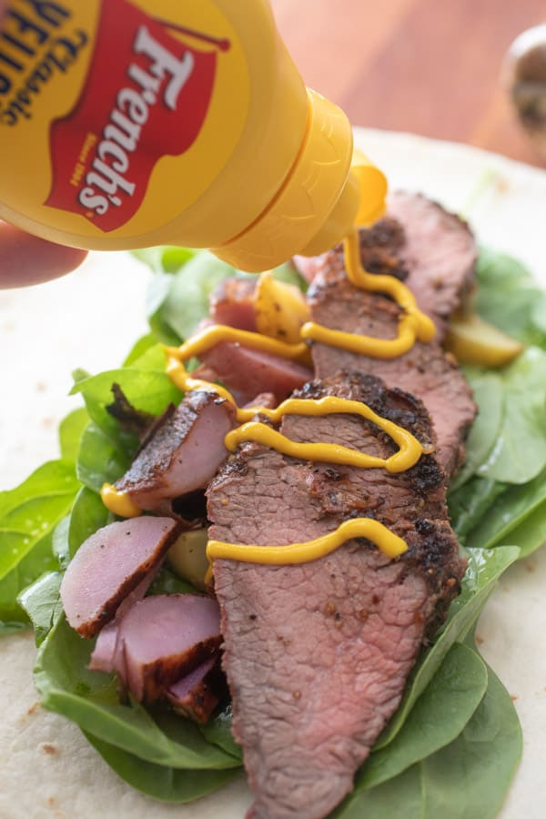 French's Mustard - Grilled Steak and Potato Wraps