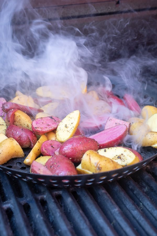 Grilled Potatoes for wraps