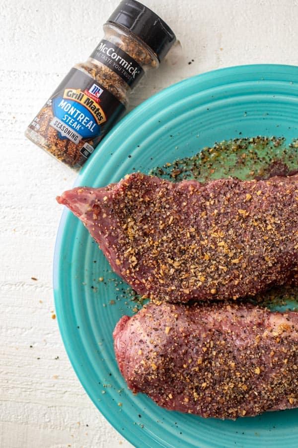 Rubbed steak - Steak and Potato Wraps