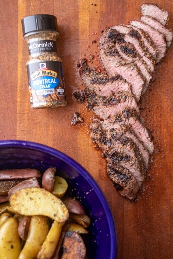Grilled Steak Sliced for Wraps