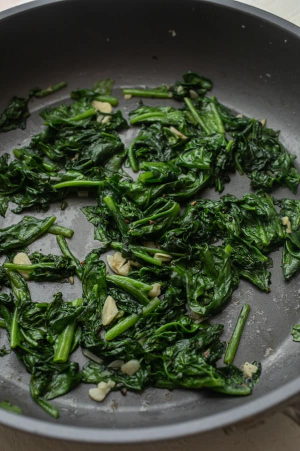 Spinach for Quiche Florentine