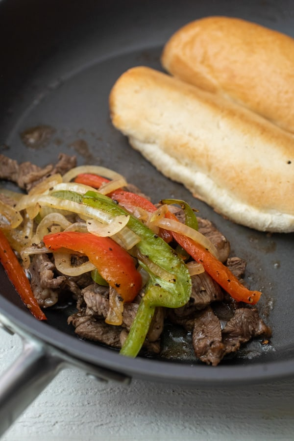 Important step - Steak Hoagies