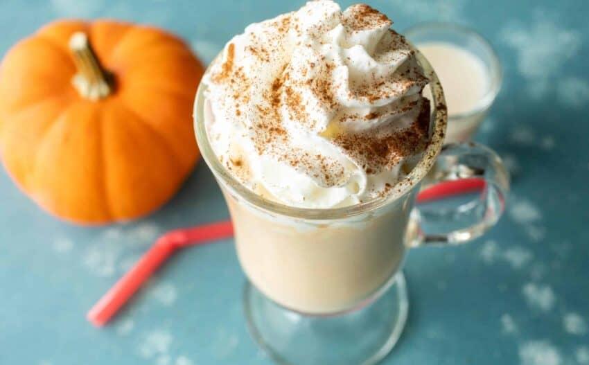 Pumpkin Milkshake with whipped cream