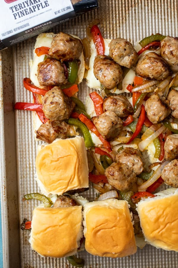 Topping Chicken Meatball Sliders