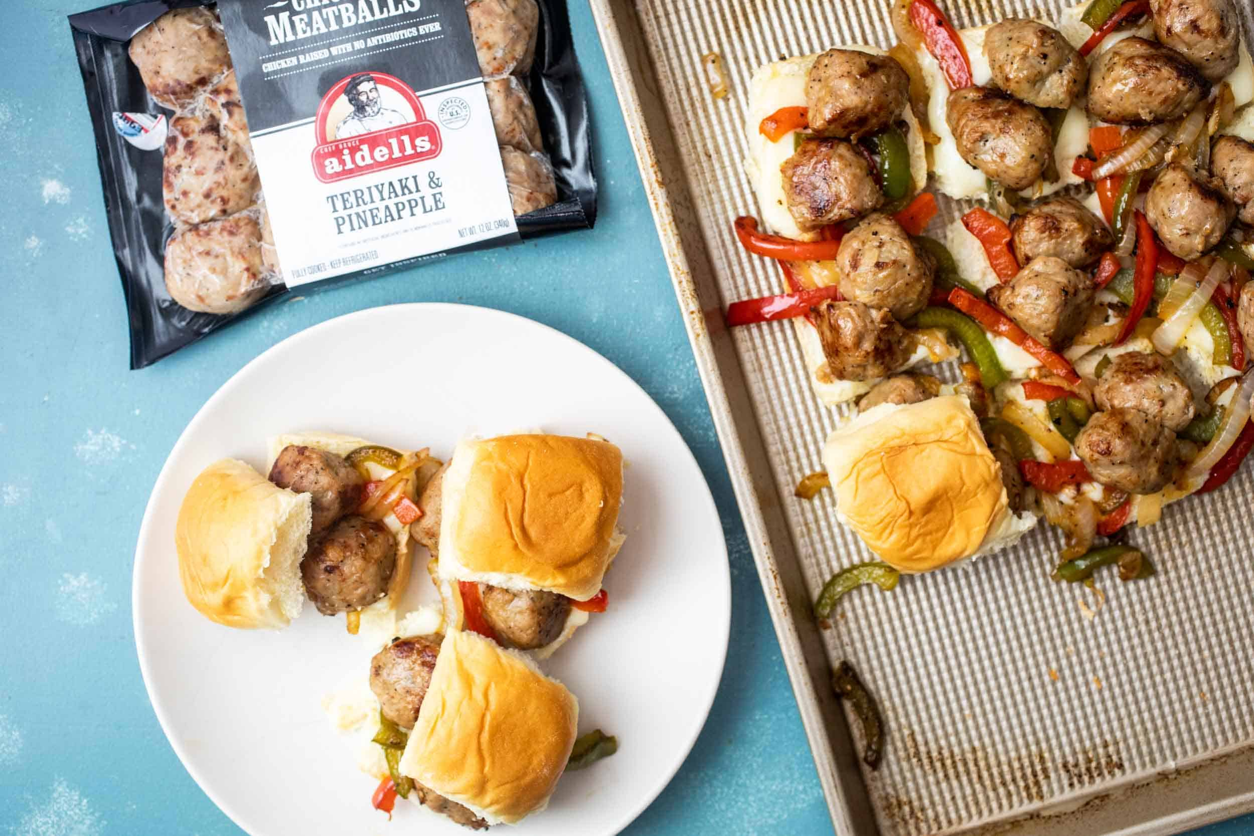 Chicken Meatball Sliders