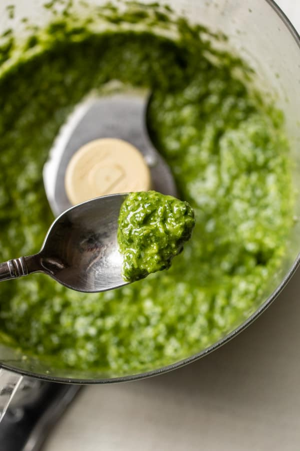 Mixed up - Spinach Pesto for Mac and Cheese