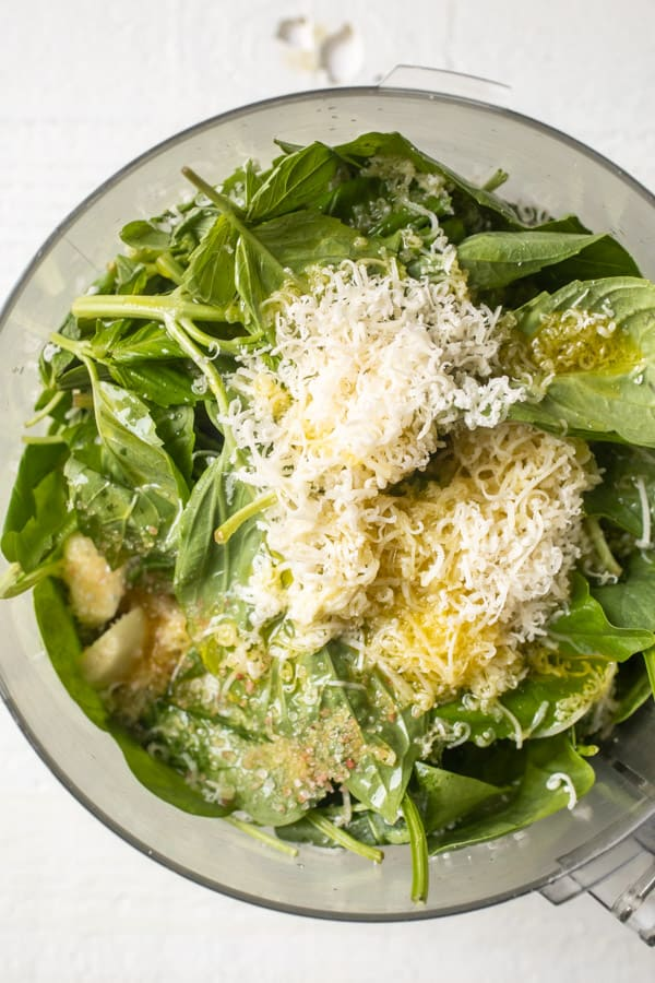 Spinach Pesto - Havarti Mac and Cheese