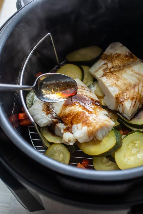 Sauce Drizzle - Pressure Cooker Cod