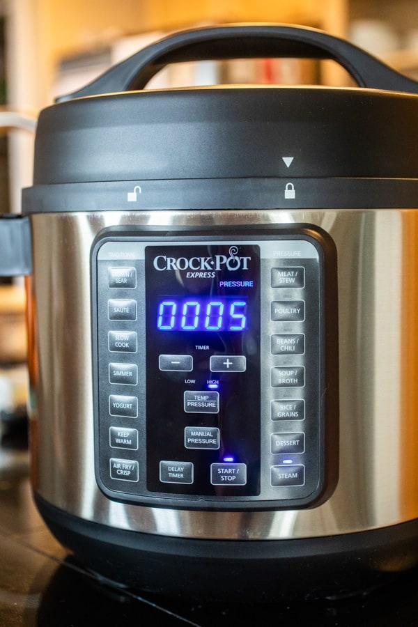Five minutes - Pressure Cooker Cod