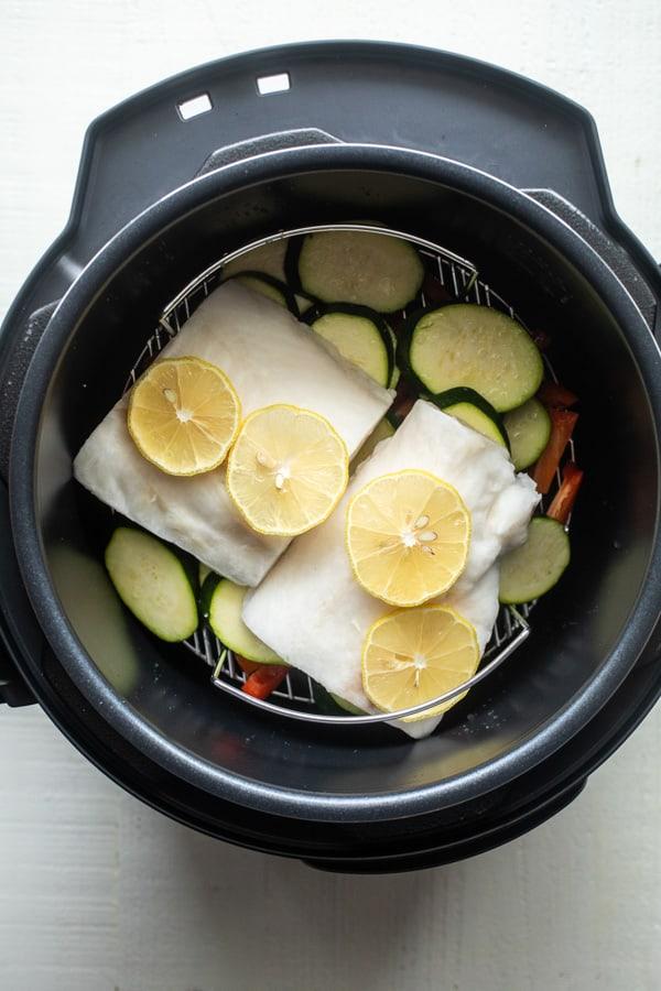 Adding Cod - Pressure Cooker Sesame Cod
