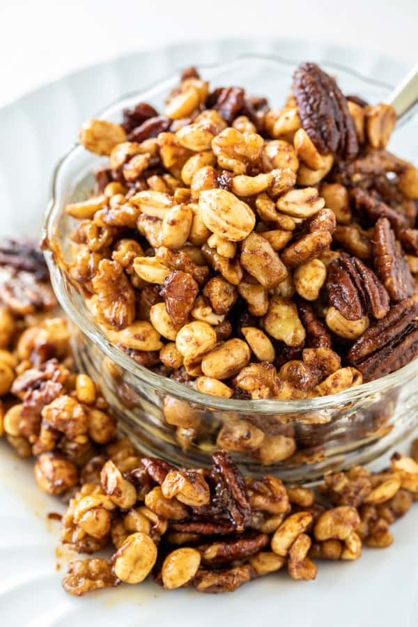 Slow Cooker Sweet and Spicy Nuts