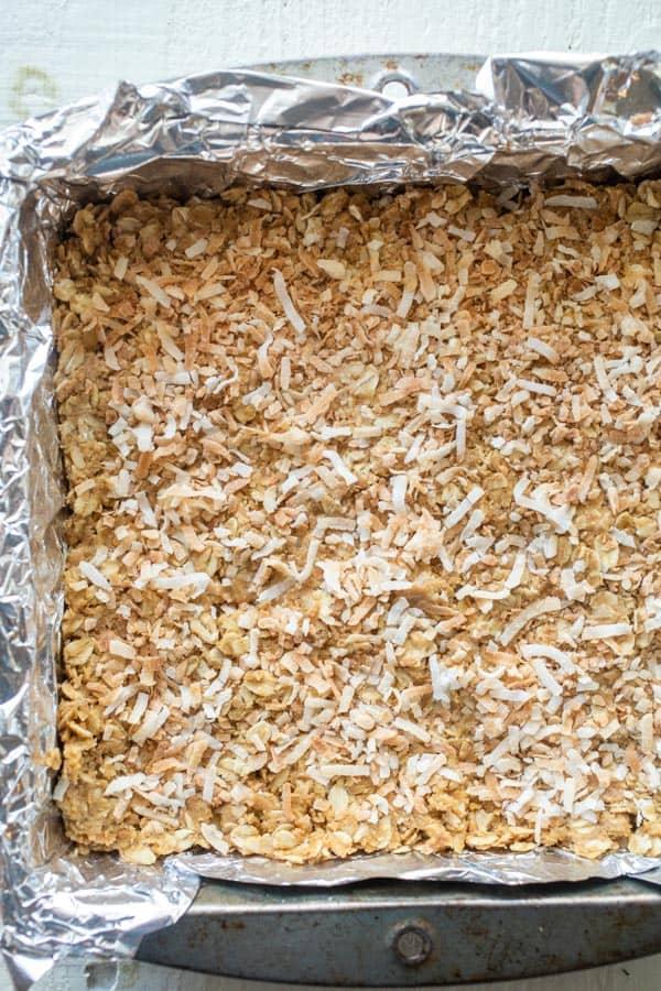 Toasted Coconut Oatmeal Bars