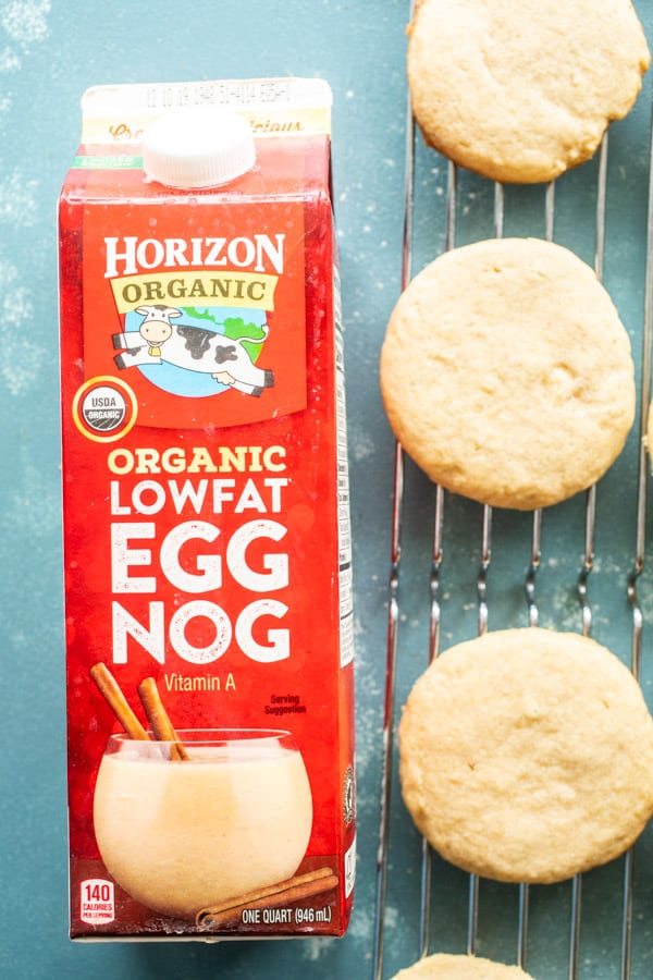 Eggnog Frosted Cookies Baked