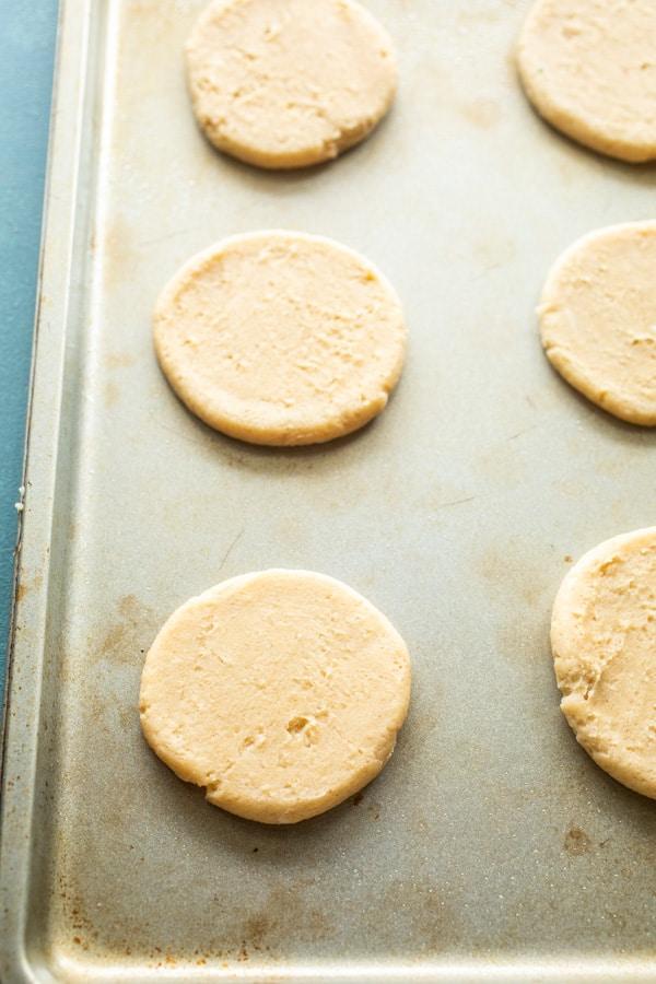 Pressed Cookies - Eggnog Frosted Cookies