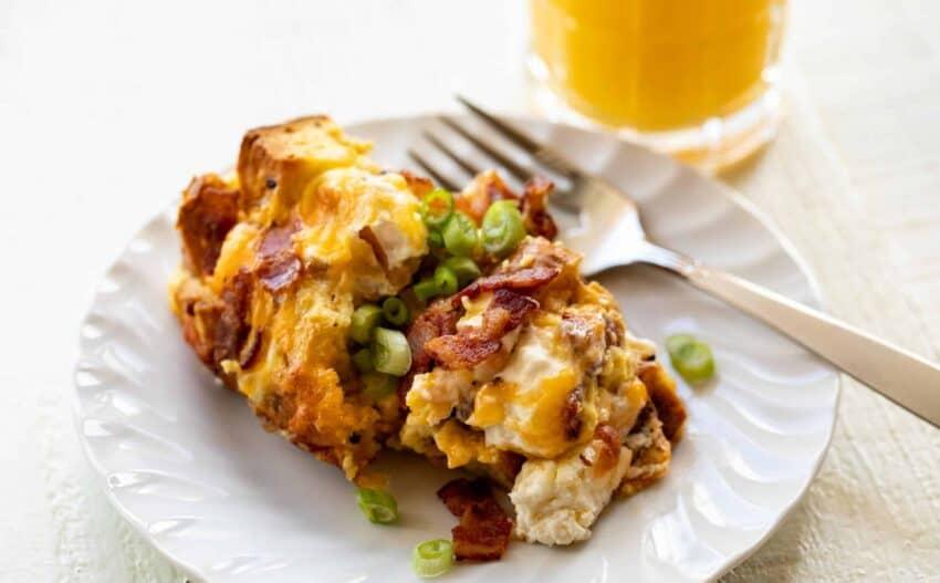 Everything Bagel Breakfast Casserole