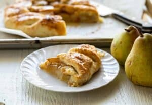 Pear Galette with Rum Sauce
