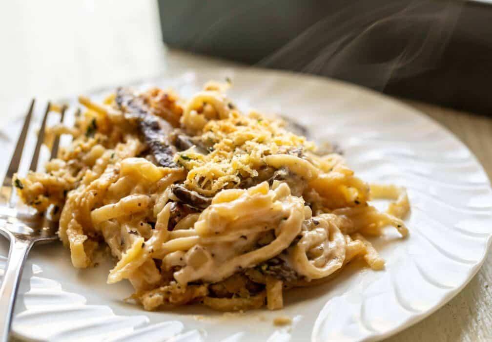 Baked Mushroom Tetrazzini