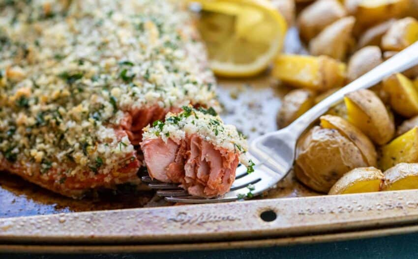 Sheet Pan Herb-Crusted Salmon