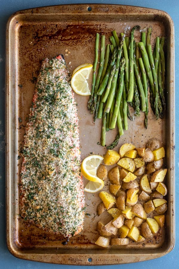 Herb-Crusted Salmon on Sheet Pan