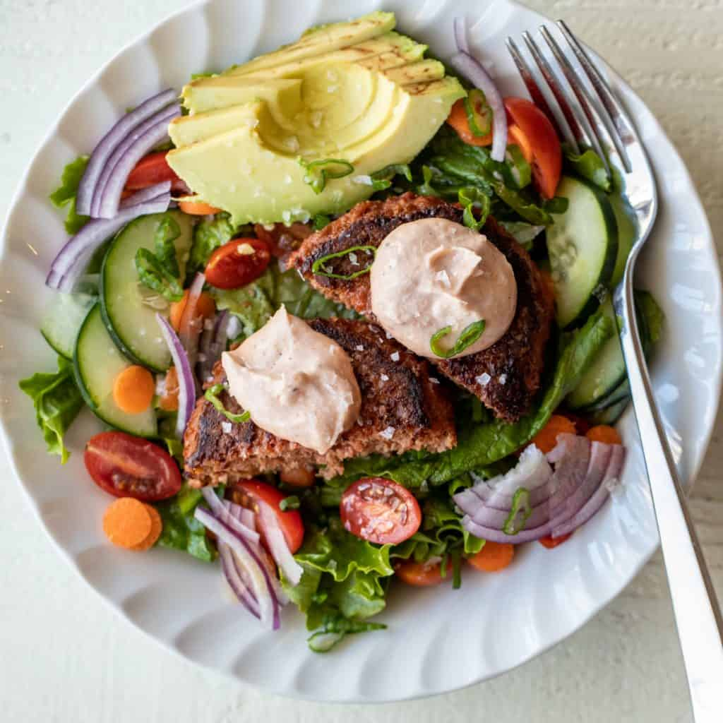 Veggie Burger Salad Bowls