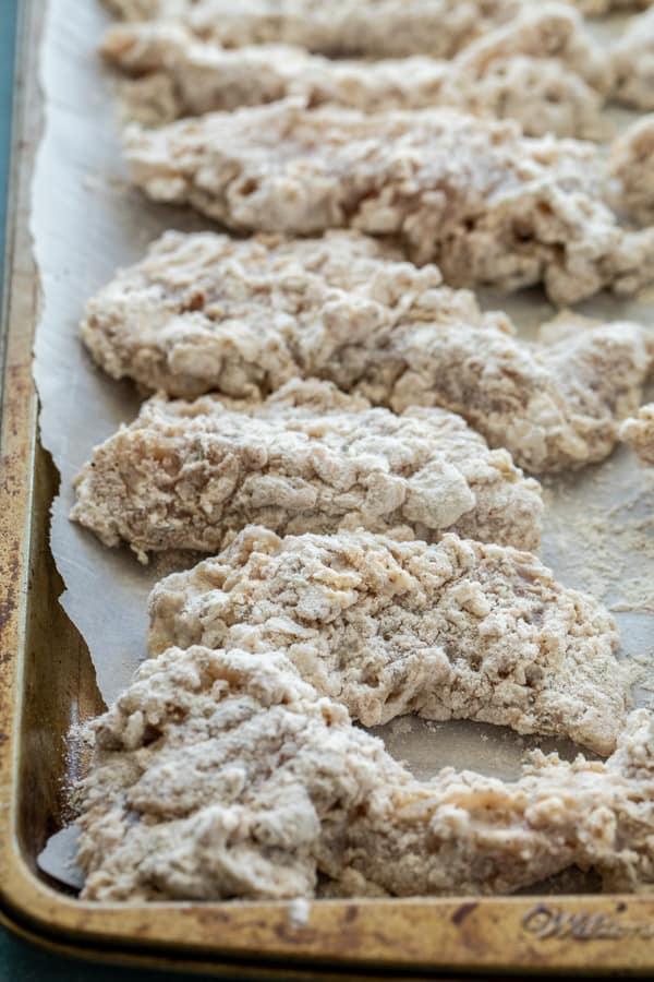 Crunchy breading for buttermilk chicken tenders