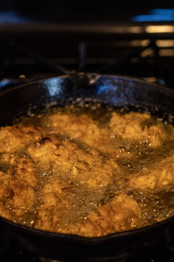 Frying chicken tenders