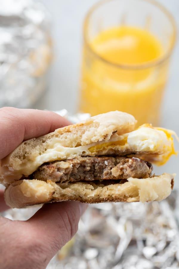 John Hodgman Breakfast Sandwich
