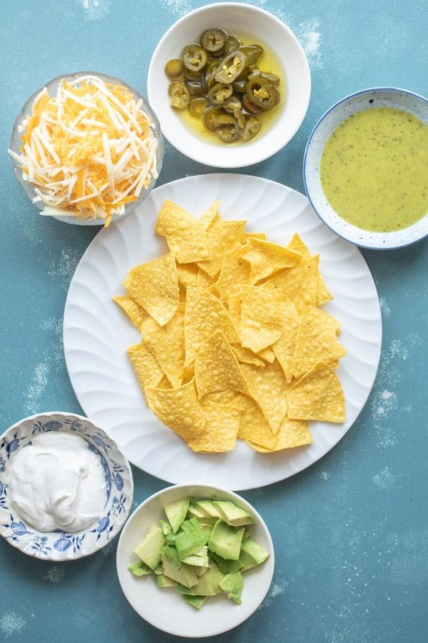 Ingredients for Microwave Nachos