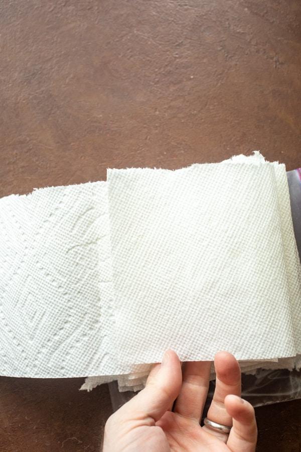 Fold method for homemade wipes.