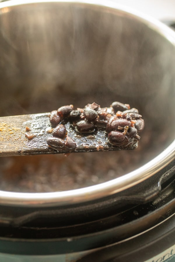 Spoon of Cuban Black Beans