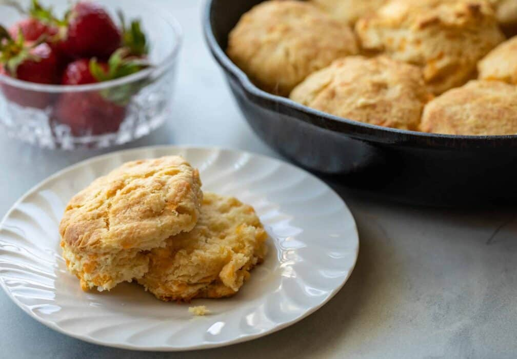 Cast Iron Cheddar Biscuits