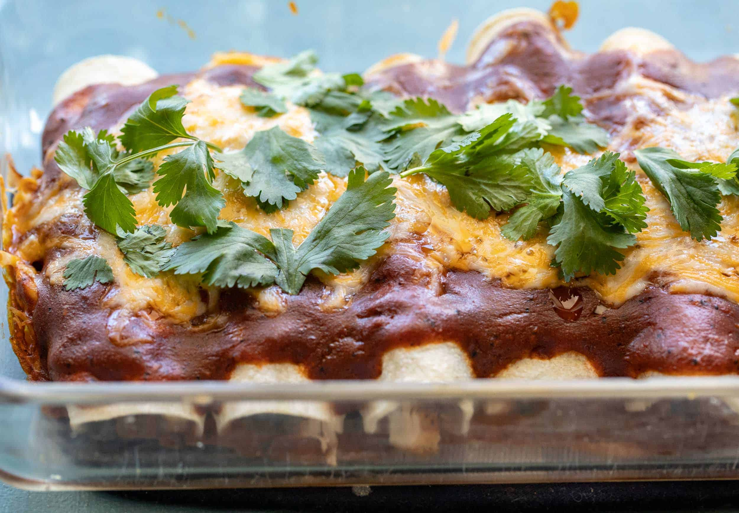 Chicken and Cheese Enchiladas for Two