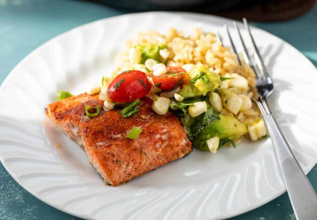 Blackened Salmon with Corn Salsa